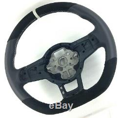 Genuine Vw Golf Gti Mk7 Ttf Steering Wheel Retrimmed Alcantara Rim Thicker