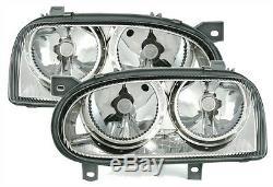 Lights Lights Before Vw Volkswagen Golf 3 Tdi 90 110 Crystal Ice Smooth Chrome Fk