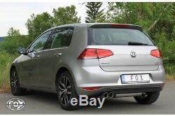 Pot Exhaust Fox 2x80 Volkswagen Golf 7 (at) 1.6 Tdi 2.0 Tdi