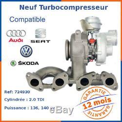 Turbo Turbocharger Nine Volkswagen Golf V 2.0 Tdi 724930-4, 724930-6