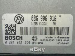 Volkswagen Golf 5 2.0 Tdi Engine Kit Calculator 0281011956 Bosch 03g906016 T