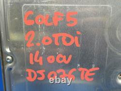 Volkswagen Golf 5 2.0 Tdi Kit Engine Calculator Bosch 0281011843 03g906016 And