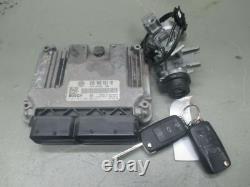 Vw Golf V 5 (1k1) 1.9 Tdi Engine Control Unit Set 03g906021hb Locks