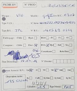 Boite vitesse automatique Volkswagen Golf V 1.9Tdi 105ch type JPL 135 522 kms
