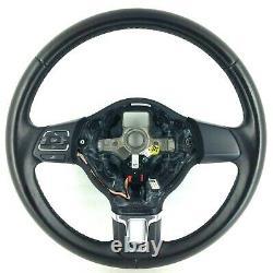 Origine VW Polo 6R Noir Volant Cuir 6R0419091F. MK5. 19D