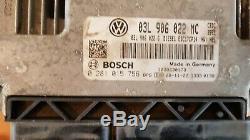 VW Golf VI (6) 2.0 TDI 110 cv Kit démarrage ECU set Bosch 03L 906 022 MC