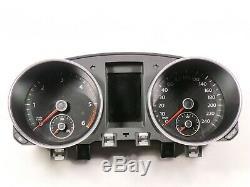VW Golf VI 6 Tdi Combiné Instrument Combinaison Unité Mfa Compte-Tours 240km/H