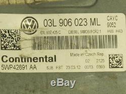 VW Jetta 1.6 Tdi Moteur Unité Contrôle ECU 03L906023ML Pour Golf MK6
