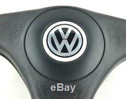 Véritable Nardi Volkswagen Bois Cuir Et Direction Roue. VW Golf Polo Etc. 2E