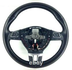 Véritable VW Jetta Noir Volant Cuir Avec Interrupteur 5C0419091AK. Ref 17A