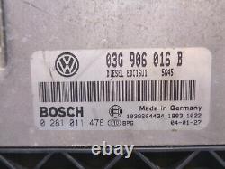 Volkswagen Golf 5 1.9 Tdi Calculateur Moteur Bosch 0281011478 03g906016 B
