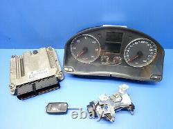 Volkswagen Golf 5 2.0 Tdi Kit Calculateur Moteur Bosch 0281011843 03g906016 Et