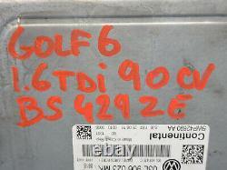 Volkswagen Golf 6 1.6 Tdi 90cv Kit Calculateur Moteur 03l906023mk 5wp42690 Aa